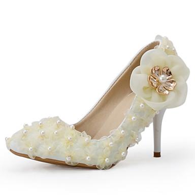 Sjampagne-Bryllup sko-Dame-Hæler-høye hæler-Bryllup / Formell / Fest/aften