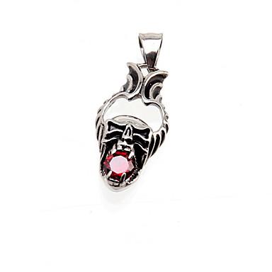 Femme Collier court /Ras-du-cou Pendentif de collier Forme de Tête de Mort Acier inoxydable Imitation Diamant Mode Bijoux de Luxe Bijoux