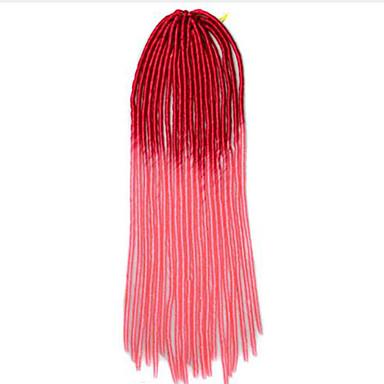 Vermelho Havana Dreadlocks Extensões de cabelo 20 inch Kanikalon 20 roots costa 100g grama Tranças de cabelo
