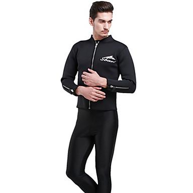 SBART Herre 3mm Våtdrakter Våtdrakt - topp Vårdrakt - jakke Hold Varm Komprimering Tactel Dykkerdrakt Dykkerdrakter Badetøy Topper-