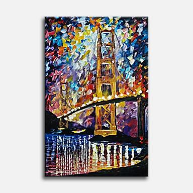 מצויר ביד מופשט אנכי,קלסי מודרני מסורתי ריאליסטי ים- תיכוני פסטורלי סגנון ארופאי בד ציור שמן צבוע-Hang קישוט הבית פנל אחד
