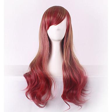 Cabelo Sintético perucas Onda de Corpo Sem Touca Peruca para Cosplay