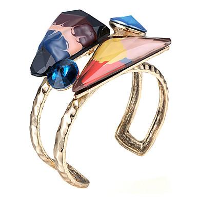 נשים צמידי חפתים אופנתי שרף סגסוגת Geometric Shape תכשיטים עבור Party יומי קזו'אל
