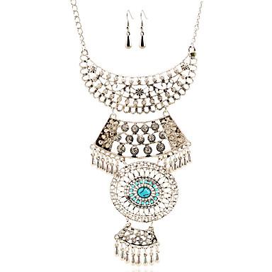סט תכשיטים שרשרת / עגילים גדילים ארופאי כסף שרשראות עגילים ל חתונה Party יומי קזו'אל 1set מתנות חתונה