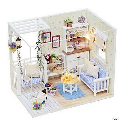 ハウス型 ウッド コンテンポラリー 田園風 装飾的なアクセサリー