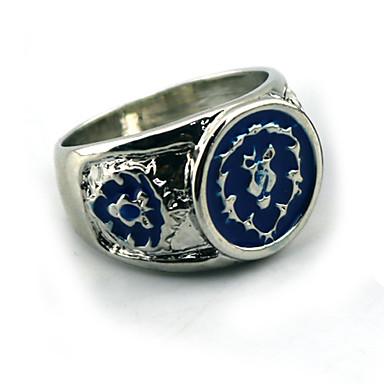 תכשיטים קיבל השראה מ WOW קוספליי אנימה אביזרי קוספליי טבעת כחול סגסוגת זכר / נקבה