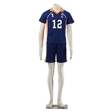 Inspiré par Haikyuu Midorubulooka Manga Costumes de Cosplay Costumes Cosplay Couleur Pleine Manches Courtes Tee-shirt Short Pour Homme