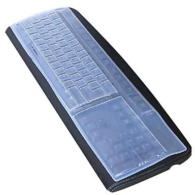 Silicone clavier d'ordinateur de bureau couverture 44.5 * 13cm anti-poussière blanc
