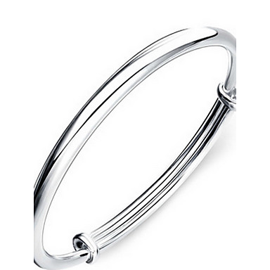 Damen Armreife - Sterling Silber Modisch Armbänder Silber Für Geschenk Arbeitskleidung Freizeitskleidung