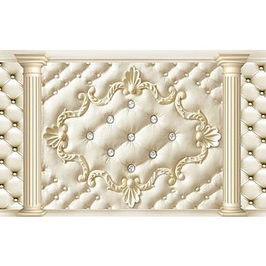 3d brillant  effet cuir grande fresque papier peint luxe fond de style européen de papier peint de décoration murale d'art