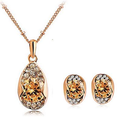Mujer Cristal Conjunto de joyas - Zirconio, Zirconia Cúbica, Brillante Corazón, Amor Moda Incluir Collar / pendientes Para Diario Casual / Pendientes / Collare
