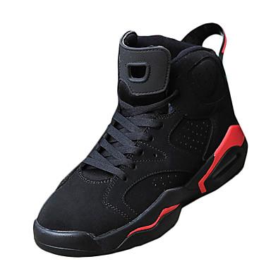 בגדי ריקוד גברים נעליים PU אביב סתיו כדורסל ל קזו'אל שחור/אדום שחור לבן אדום/ לבן