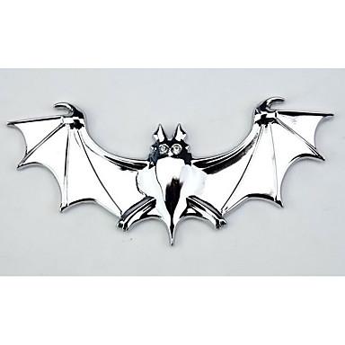 os morcegos metais puros em carro, carro de som do metal adesivos decorativos, adesivos refletivos
