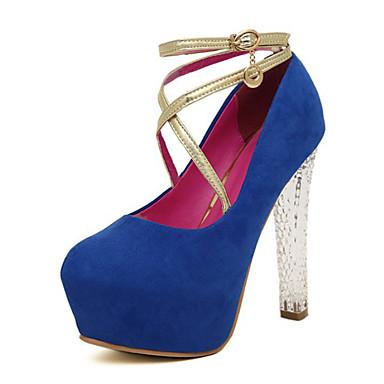Femme Chaussures Daim Printemps Automne club de Chaussures Chaussures Lumineuses Chaussures à Talons Talon Aiguille Cristal pour Soirée &