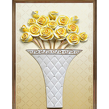 moderne skjønnhet stor mur tapet 3d gule roser kunst vegg dekor vegg papir