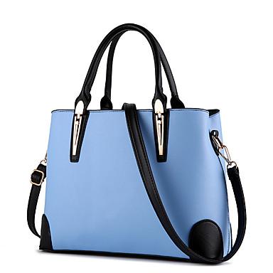 נשים תיק צד PU סתיו קניות קזו'אל רשמי בגט קפלים רוכסן כחול כהה פוקסיה ורוד Wine כחול בהיר