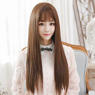 Perruque Synthétique Femme Droit Cheveux
