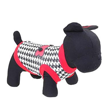 Katze Hund T-shirt Hundekleidung Blumen / Pflanzen Rot Baumwolle Kostüm Für Haustiere Herrn Damen Modisch