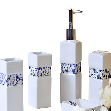Såpeskål Tannbørsteholder Lotion Flaske Tannbørste Kopp Keramikk