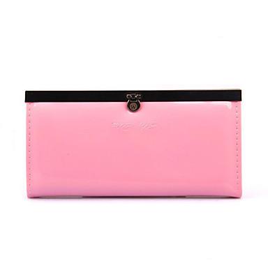 Damen Taschen PU Metall Brieftasche für Formal Gewerbliche Verwendungen Ganzjährig Fuchsia Grün Blau Rosa Wassermelone