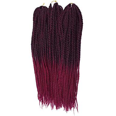 ツイスト三つ編み セネガル カネカロン 図1b /パープル burgundy 図1b /#27 #27 /#613 図1b /#30 ヘアエクステンション 22inch 髪の三つ編み