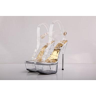 בגדי ריקוד נשים נעליים חומרים בהתאמה אישית קיץ סתיו נעלי מועדון נעליים זוהרות רצועת קרסול בלרינה בייסיק סנדלים עקבים עקב סטילטו עקב