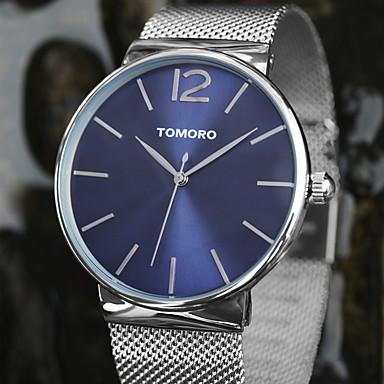 TOMORO יוניסקס שעוני שמלה שעוני אופנה שעון יד קווארץ קוורץ יפני / מתכת אל חלד להקה יום יומי כסף כסף