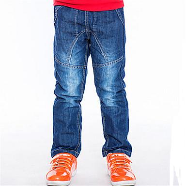 Pantalons Boy Couleur Pleine Printemps Coton