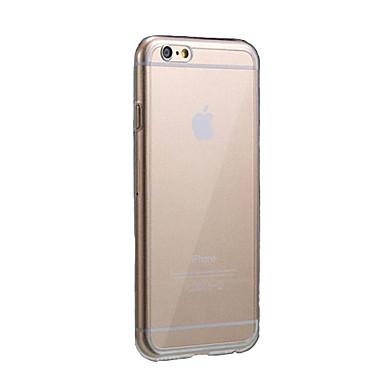 Uyumluluk iPhone 6 iPhone 6 Plus Kılıflar Kapaklar Ultra İnce Şeffaf Arka Kılıf Pouzdro Tek Renk Yumuşak TPU için iPhone 6s Plus iPhone 6