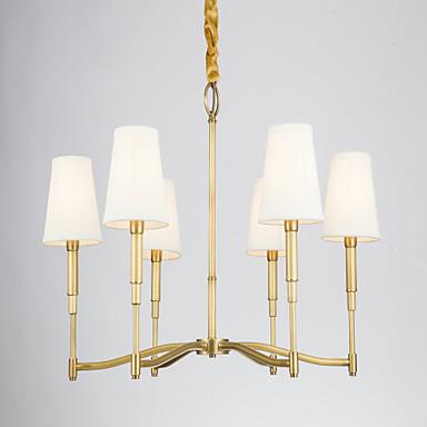 シャンデリア ,  田舎風 真鍮 特徴 for デザイナー メタル ベッドルーム ダイニングルーム 廊下
