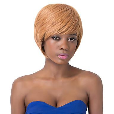 moda estilo bob curto europeu marrom peruca festa de estrondo lado sythetic para as mulheres