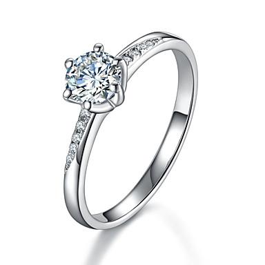 Ringe Mode Bryllup Smykker Sølv Rhinsten Dame Båndringe 1 Stk.,5 6 7 8 9 8½ 9½ 4 Sølv
