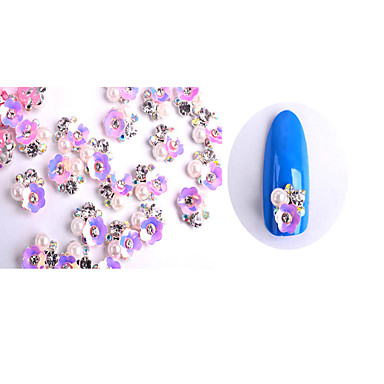 10 Nagelschmuck Metallisch Blume Modisch lieblich Perle Gute Qualität Alltag
