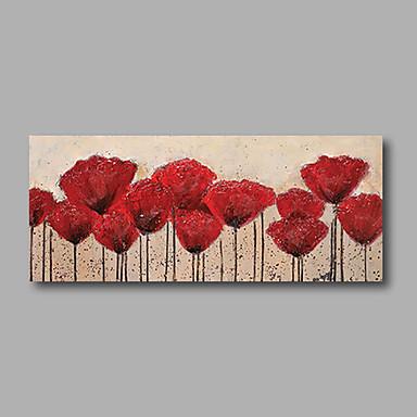 Handgemalte Blumenmuster/Botanisch Horizontal, Modern Segeltuch Hang-Ölgemälde Haus Dekoration Ein Panel