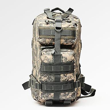 55L mochila - Multifuncional Acampar e Caminhar Náilon selva digital, Três cor de areia, Desert digital