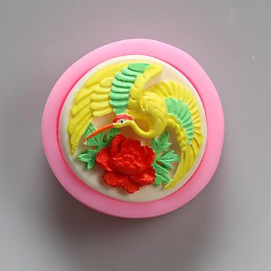oiseaux moules en silicone chocolat animal, moules à gâteaux, moules à savon, des outils de décoration bakeware
