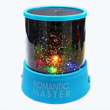 led proyector de luz de la noche estrellado cielo estrella luna maestro niños niños bebé sueño romántico colorido led usb lámpara de proyección