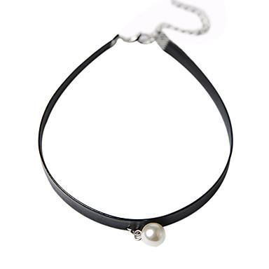 נשים שרשראות תליון Circle Shape פנינה סגסוגת בוהמי עמיד ביקיני איקס _(קרוס) תכשיטים עבור יומי קזו'אל