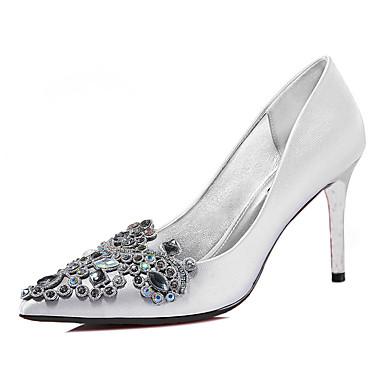נעלי נשים-עקבים-נצנצים-עקבים-שחור / כסוף-חתונה / קז'ואל / מסיבה וערב-עקב סטילטו