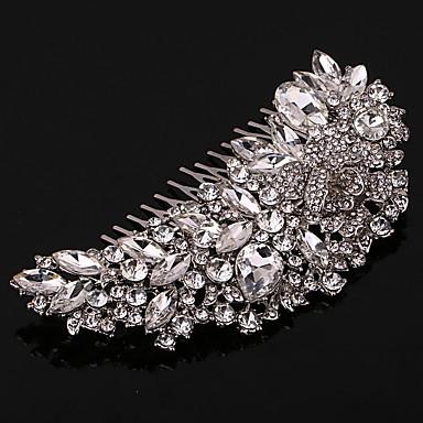 真珠 クリスタル ラインストーン 合金 - ヘアコンビ 1 結婚式 パーティー カジュアル かぶと