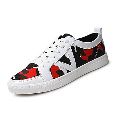 Sneakers-Mikrofiber-Komfort-Herre-Sort Blå Hvid-Udendørs Fritid Sport-Flad hæl