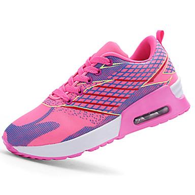 Sko-Tyll-Flat hæl-Komfort-Trendy sneakers-Sport-Grønn / Oransje / Mørkerød