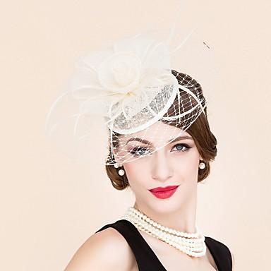 פשתן עור רשת מפגשים כובעים 1 חתונה אירוע מיוחד קזו'אל כיסוי ראש