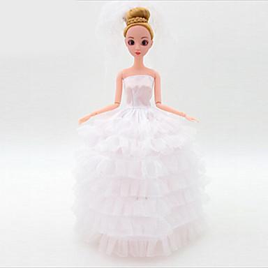 preiswerte Puppen-Puppenkleidung Hochzeitskleid Kunststoff Baby Mädchen Spielzeuge Geschenk