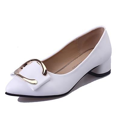 Femme Chaussures Similicuir Printemps Eté Automne Chaussures à Talons Talon Bottier Boucle pour Décontracté Soirée & Evénement Blanc Noir