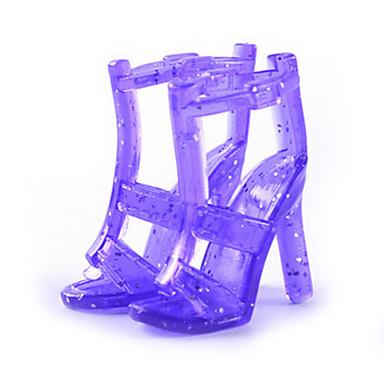 11-tommers dukke sko og høyhælte sko smykker tilbehør mote fantasy leke kle opp leker, bokstav b