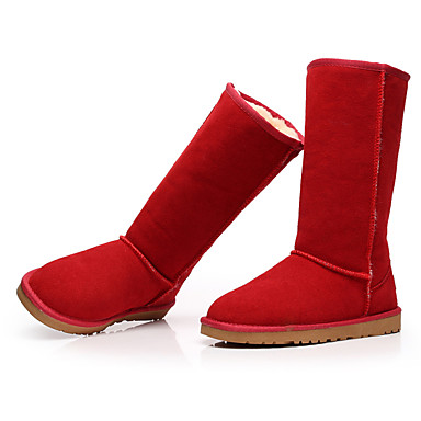 Cuir 05111073 Rouge Neige Mode Hiver Plat Bottes Chaussures b6f7gIyvYm