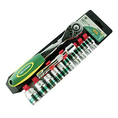 berrylion® 12 camion définit une clé à douille fixe kit d'outil clé mis en kit d'outils de réparation automobile