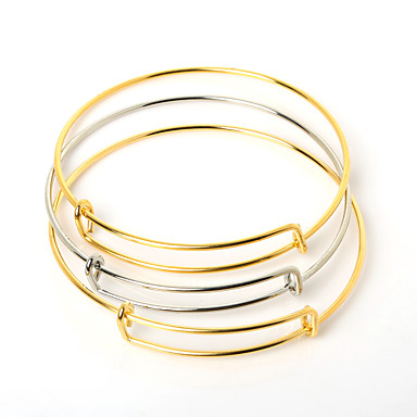 Damen Edelstahl Manschetten-Armbänder Armband - Modisch Einstellbar Gold Silber Armbänder Für Besondere Anlässe Geburtstag Geschenk