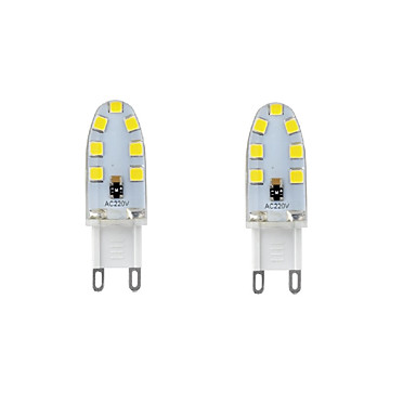 2W G9 נורות שני פינים לד T 14 נוריות SMD 2835 עמיד במים דקורטיבי לבן חם לבן קר לבן טבעי 200-250lm 3000-6000K AC 220-240 AC 110-130V